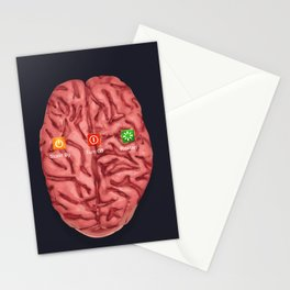 turn off your brain Stationery Cards