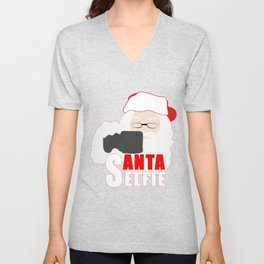 Santa Selfie Unisex V-Neck