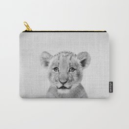 Baby Lion - Black & White Carry-All Pouch