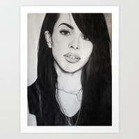 aaliyah Art Prints featuring AALIYAH by alittleart