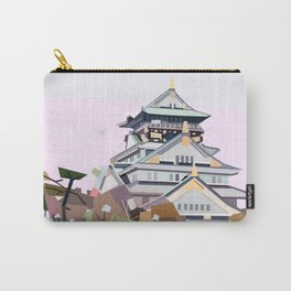 Geometric Osaka castle, Japan Carry-All Pouch