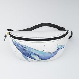Humpback Whale Watercolor Fanny Pack