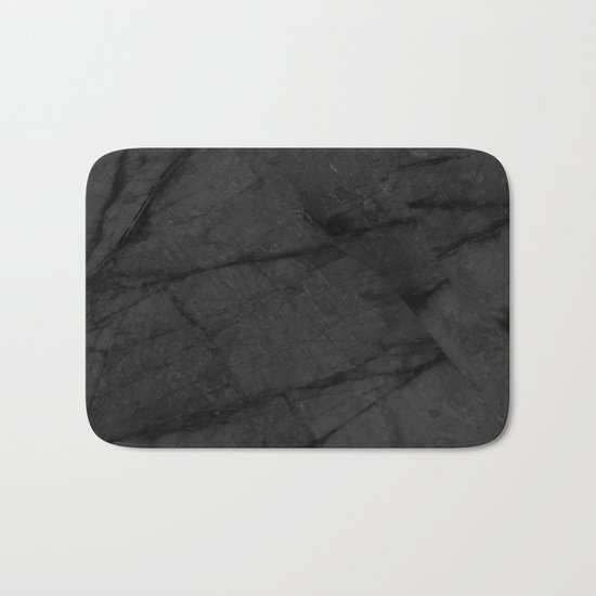 Dark Grey Marble Bath Mat
