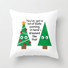 Spruced Up Throw Pillow