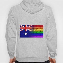 Gay Rainbow Wall Australian Flag Hoody
