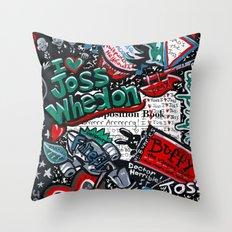 I heart Joss Whedon Throw Pillow