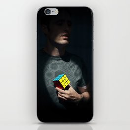 The distinguished gentleman with a cube heart iPhone Skin