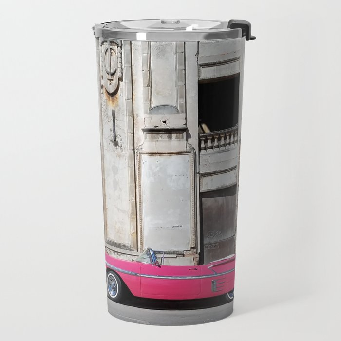 Classic Car on the City Street Travel Mug