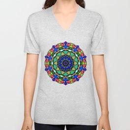 Colourful Hand Drawn Mandala Unisex V-Neck