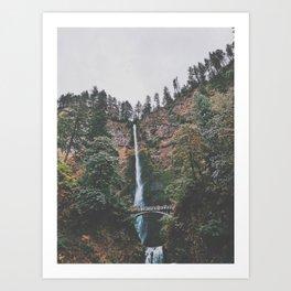 Majestic Multnomah Falls Art Print