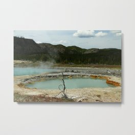 Wall Pool Metal Print