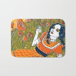 Dorothy in the Poppy Field Bath Mat