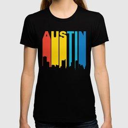 Retro 1970's Style Austin Texas Skyline T-shirt
