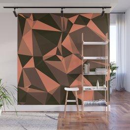 Cola, Very Dark Brown, Copper, Sante Fe, Triangles Wall Mural