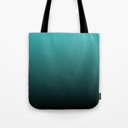 Teal Black Ombre Tote Bag
