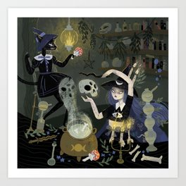 Witches and Potions Art Print