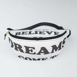 Dreams-come-true, quotes, stars, blackwhite, paleblue, Holidays, birthday,Xmas, Easter , society6 Fanny Pack