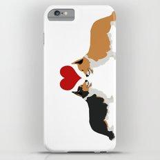 Pembroke Welsh Corgi Dogs Art - two corgis in love Slim Case iPhone 6 Plus