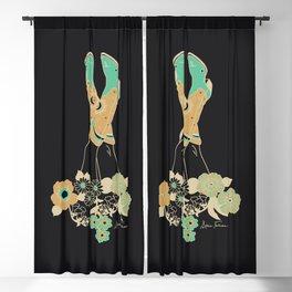 Love Stoned Cowboy Boots - Emerald, Cream, Black Blackout Curtain