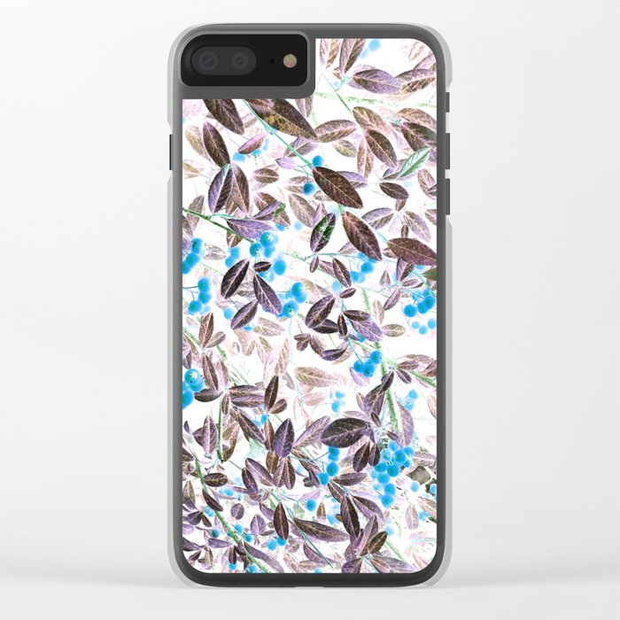 Blue Berries Clear iPhone Case
