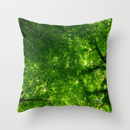 Canopy of leaves Throw Pillow