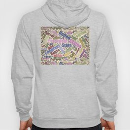 Colorful Constitution Text Graphic Hoody