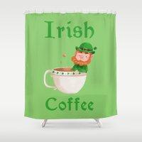 irish Shower Curtains featuring Irish Coffee by Supergna