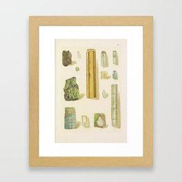 Emerald And Aquamarine Framed Art Print