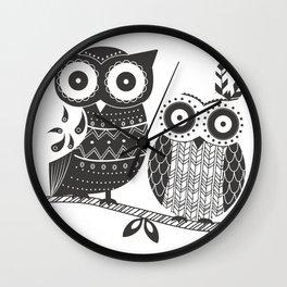 Boho Owl Wall Clock