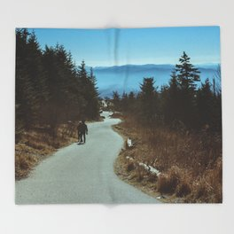 Path up the Great Smoky Mountains Throw Blanket