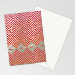 Woven Diamond - Red + Magenta Stationery Cards