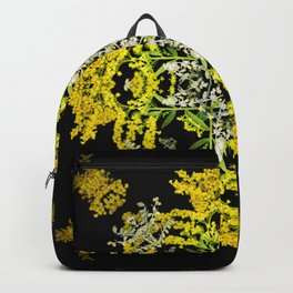 Crowning Goldenrod and Silver king Kaleidoscope Scanography Backpack