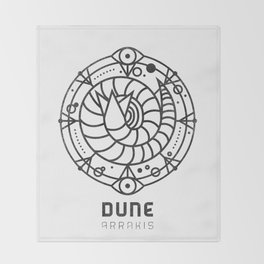 SANDWORM: ARRAKIS BADGE Throw Blanket