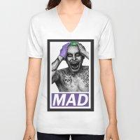 jared leto V-neck T-shirts featuring Joker Leto by RentArtWork