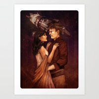 firefly Art Prints featuring Firefly by Vaahlkult