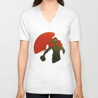 thor V-neck T-shirts featuring Thor by Pulvis