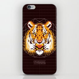 Geometric Tiger iPhone Skin