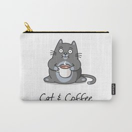 Cat & Coffee Carry-All Pouch