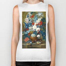 "Jan van Os  ""Flower still life with a bird's nest on a ledge"" Biker Tank"