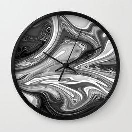 FLUSH - BLACK Wall Clock