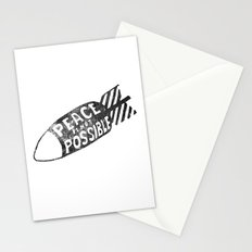 peace is not possible hand lettering illustration Stationery Cards