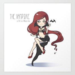 The Vampire - The Cute Halloween Day Art Print