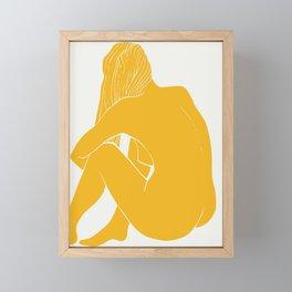 Nude in yellow summer Framed Mini Art Print