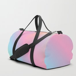 Abstract aurora pink teal lavender blue watercolor gradient Duffle Bag