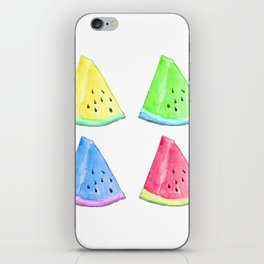 Watermelon Color Mix iPhone Skin