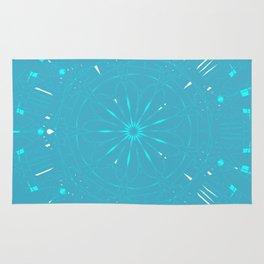 Psychadelic Space Mandala - Turquoise Rug