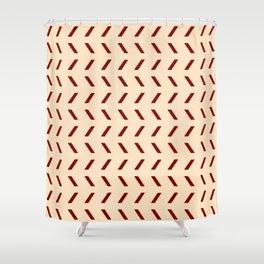 Funnies stripes 28 ceramic colors Shower Curtain