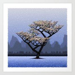Generative Treescape 1 Art Print
