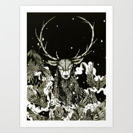 Becoming The Beast  Art Print