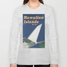 Hawaiian Islands vintage style travel poster Long Sleeve T-shirt